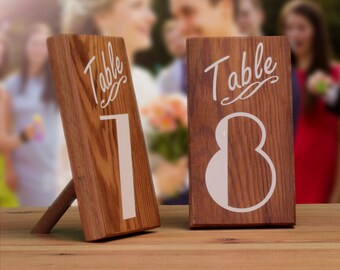 Table Numbers, Wedding Table Markers, Rustic Wedding