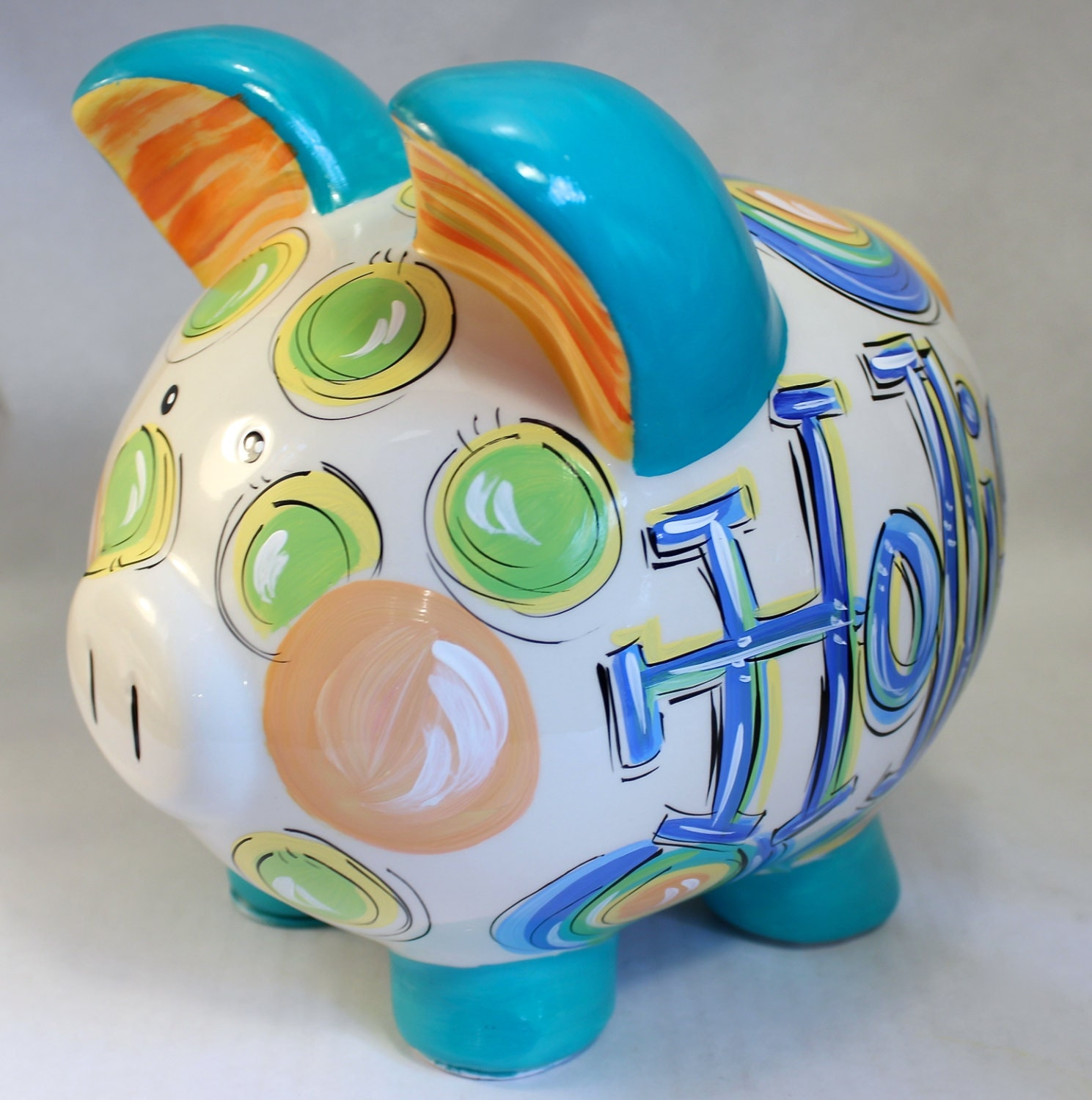 Piggy bank piggy bank for boys ceramic piggy bank - Coin banks for boys ...