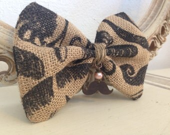 Vintage Mustache Hair Bow