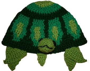 Hand Crocheted Turtle Hat