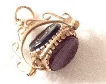 9ct gold spinning fob