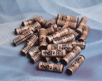 30 Sheet music paper beads