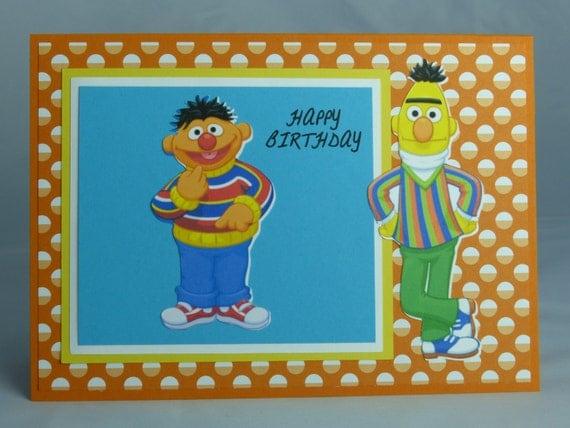 Items Similar To Handmade Greeting Card: Sesame Street