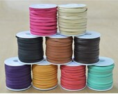 """Deerskin Lace Spool 3/16"""" x 50' Leather lacing 3 ounce thickness CHOOSE COLOR-The Leather Guy"""