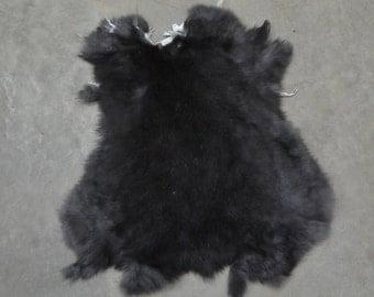 Rabbit Fur Pelt Dark Brown Genuine Leather Large TA-39588 (Sec. 1,Shelf 4,B)