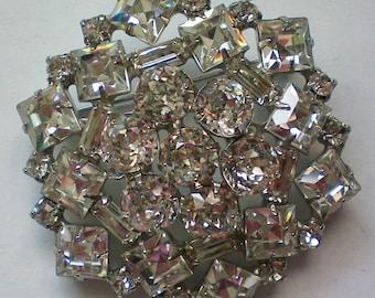 Fabulous Weiss Rhinestone Cluster Brooch - 4301