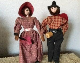 Hickory Nut Folk Art Dolls