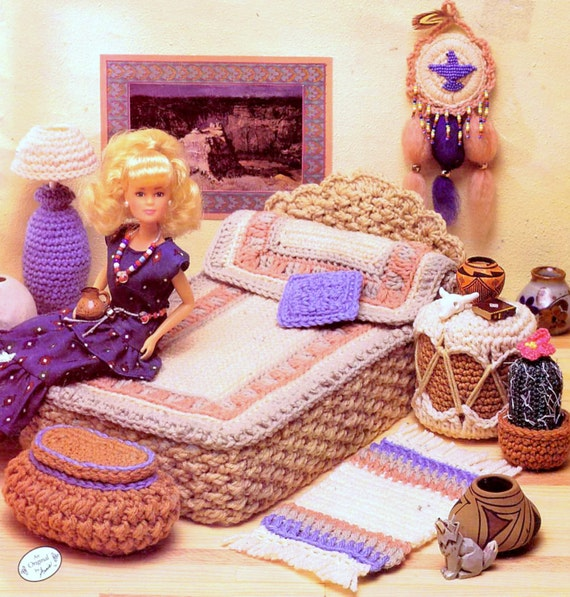 Vintage Crochet Pattern PDF Fashion Doll Home Decor Desert Bedroom Barbie  Sindy Dolls House Furniture From ToysWereUsPatterns On Etsy Studio
