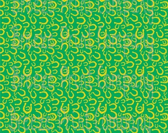 Green and yellow Horseshoe pattern craft vinyl sheet - HTV -  Adhesive Vinyl -  St. Patrick's Day pattern HTV2152