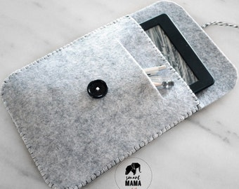 Gray felt case for kindle or tablet