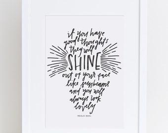 Shine | Roald Dahl Print