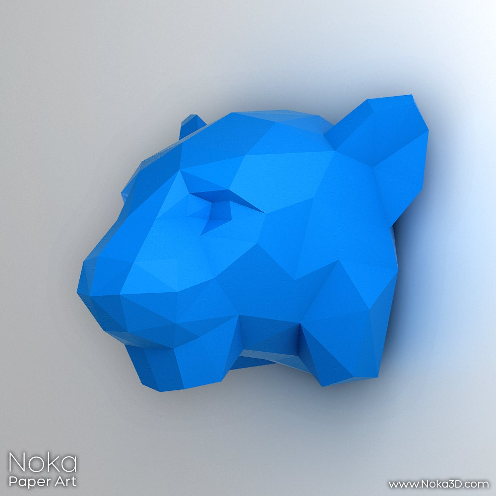 Tiger Head 3D Papercraft Model. Downloadable DIY By