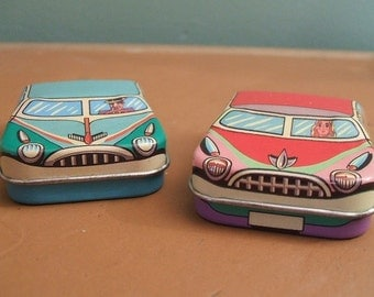 Ian Logan - Ian Logan Tins - Vintage Tins - Vintage Tin - Miniature Tins - Retro Cars - Cars - Clean Machines - Automobiles - 1950s cars