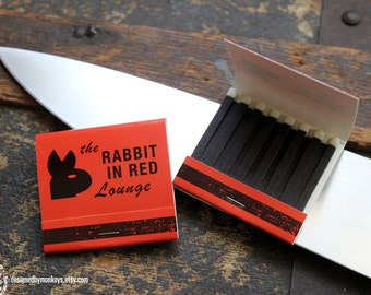 Rabbit In Red Lounge Match Book - Halloween Movie Screen Accurate Prop Replica Michael Myers  1978