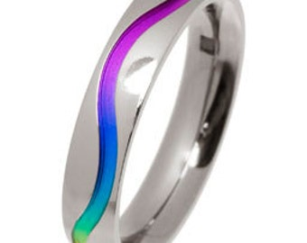 Titanium Colourful Wave Ring (WITHOUT DIAMONDS)