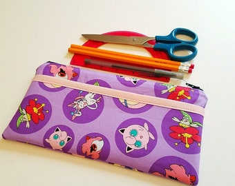 Pokemon Girls Zippered Pencil Case