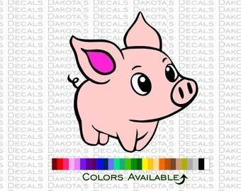 Cute Piggy Decal