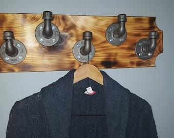 Custom Industrial style hook rack w/ FREE SHIPPING!