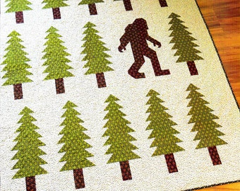LEGENDARY     Quilt Pattern    NorthWest Sasquash/Big Foot Quilt - By Elizabeth Hartman