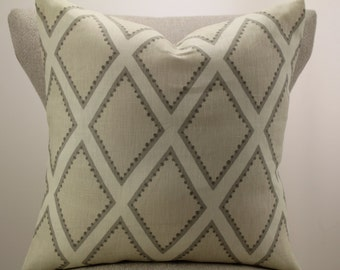 Brookhaven Oyster pillow cover,throw pillow,decorative pillow,accent pillow.lumbar pillow,same fabric on front and back.