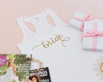 Bride Tank, Wifey Tank, Wedding Tank Top, Wifey shirt, Gifts for Bride to be, Wifey top, Bride Shirt, Bridal Shower Gift, Bachelorette Party