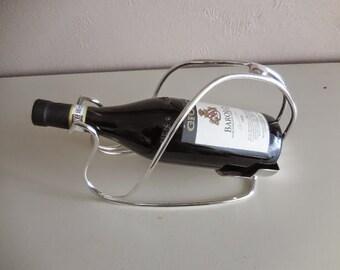 Vintage French wine bottle holder