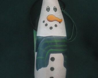Banana Snowman Gourd Ornament