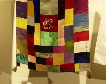 Hand embroidered and hand sewn Bojagi