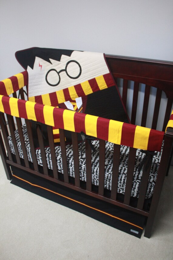 Harry potter baby beddingharry pottercustom crib - Harry potter crib set ...