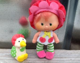 Cherry Cuddler w/ Gooseberry Vintage Strawberry Shortcake Doll