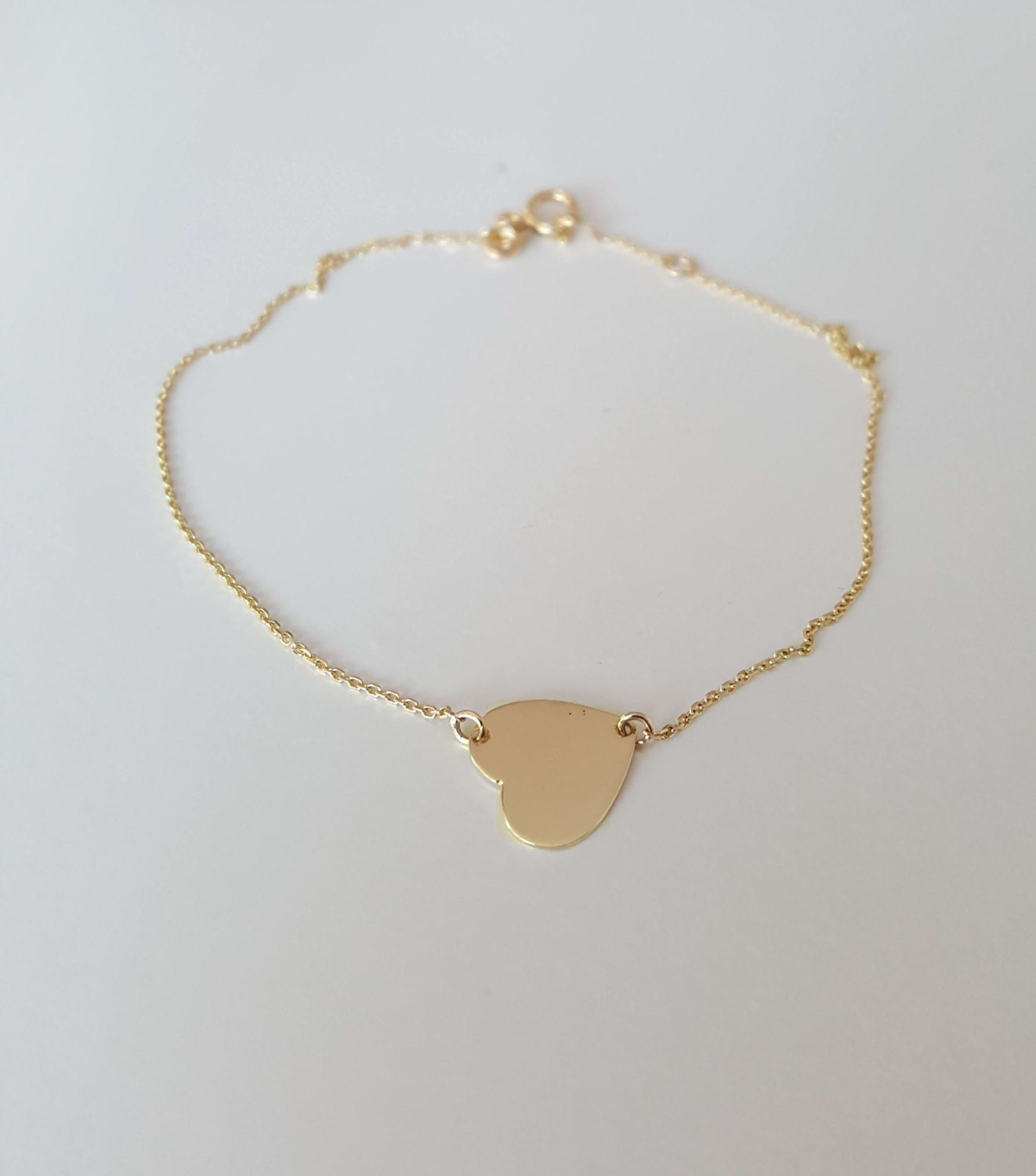 yellow shipping gold watches today overstock floating product solid extender anklet free jewelry with inch heart