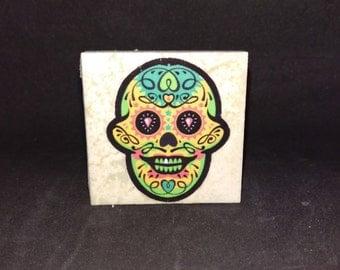 Sugar Skull (Style1 - 4 Pack) - Tile Magnets 1-3/4 x 1-3/4