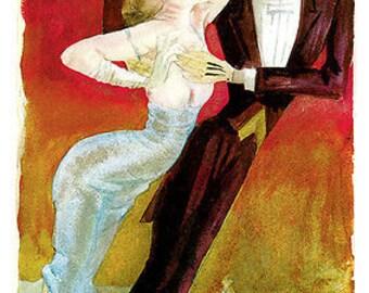 Dix - Modern Couple Dancing (1922) Art Canvas/Poster Print A3/A2/A1