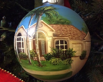 "Hand Painted 4""  Custom House Ornament"