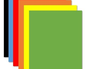 """Colored Magnet Sheets 8.5"""" x 11"""" for Magnetic Crafts - Choose any color!"""