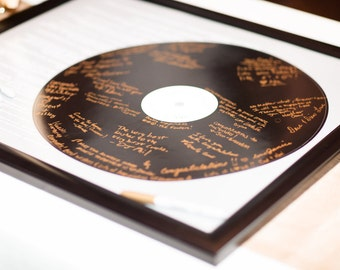 Your Lyrics Record Wedding Song Guest Book Alternative/Wedding Vows/ Couples Shower Guestbook/Record Guest Book Print - 20x24