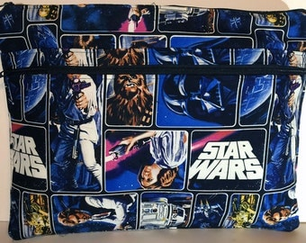 "NEW Star Wars Original Trilogy Laptop Macbook Pro or Air Case Sleeve with Zipper 13"" 15"" Licensed Fabric Han Solo Luke Skywalker Leia Vader"
