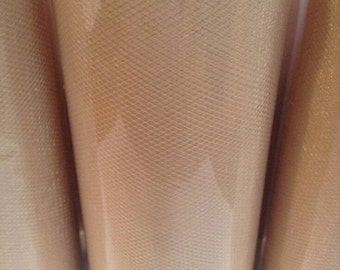 Beige tulle roll, 100 yards beige tulle spool of 6 inches wide high quality beige tulle fabric.