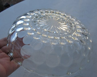 Beautiful Clear Bubble Glass Serving Bowl