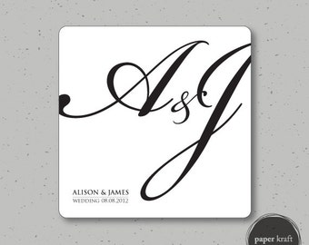 Classic Black & White Wedding/Engagement Invite