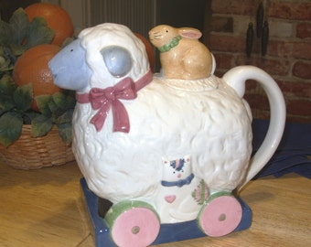 Susan Winget Sheep Shaped Pitcher