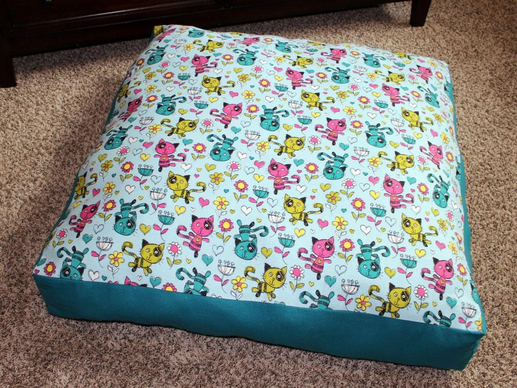Kids Floor Pillow Floor Cushion Cat Decor Girls Room