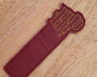 Harry Potter Vinyl Bookmark Embroidered in Gryffindor Colors