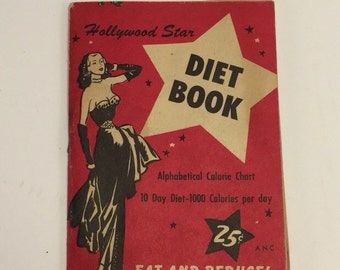 1953 Hollywood Stars Diet Book.  RARE!