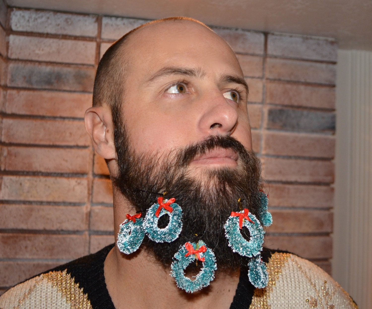 Beard Ornaments Wreaths beard dangles lumbersexual Beard Ornaments
