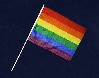 Rainbow Flags On A Stick in a Bag (Retail) RE-FLAG-02-RB