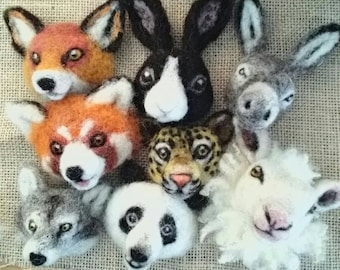 Bespoke animal brooches - needle felted animal badge