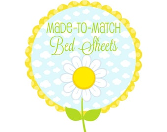 Made-to-Match Fitted and Flat Sheets - Fitted or Flat Bed Sheet to Match Any Bedding Set - Custom Made Bedding