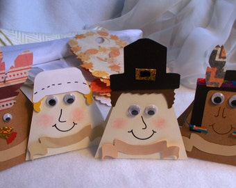 Whimisical Thanksgiving Character Place Cards