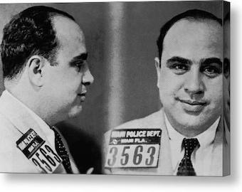 Al Capone Mug Shot 1931 Horizontal on Stretched Canvas